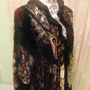 Chico's stunning silk & rayon wrap velvet elegant